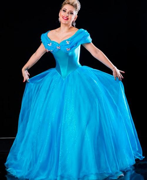 Vestido de 15 anos Azul Cinderela
