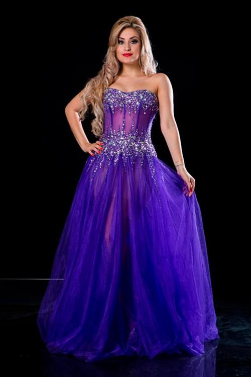 24aa0157fa vestido de 15 anos roxo tomara que caia - Bella Angela