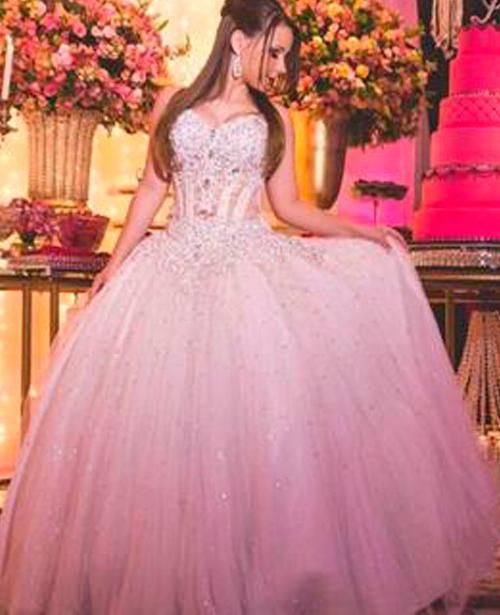 vestido de 15 anos princesa branco tomara que caia
