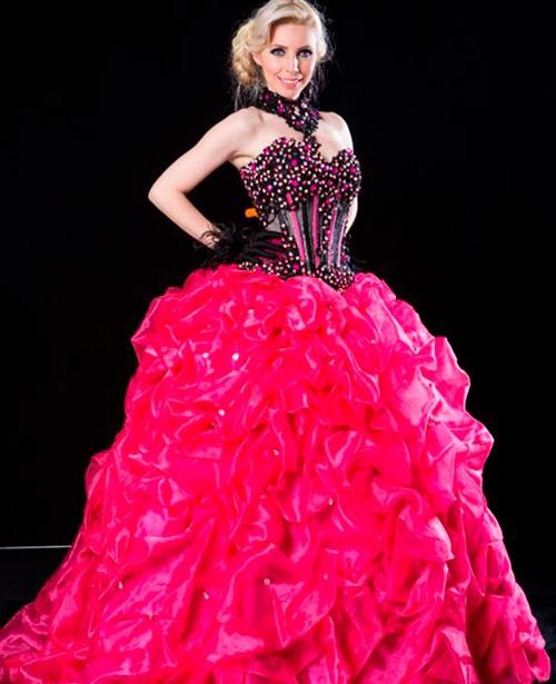 vestido de 15 anos rosa pink e preto tomara que caia
