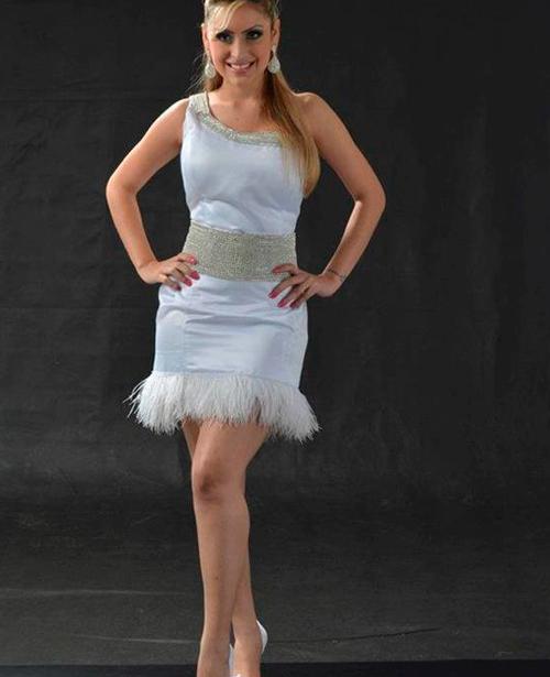 vestido de festa curto cinza