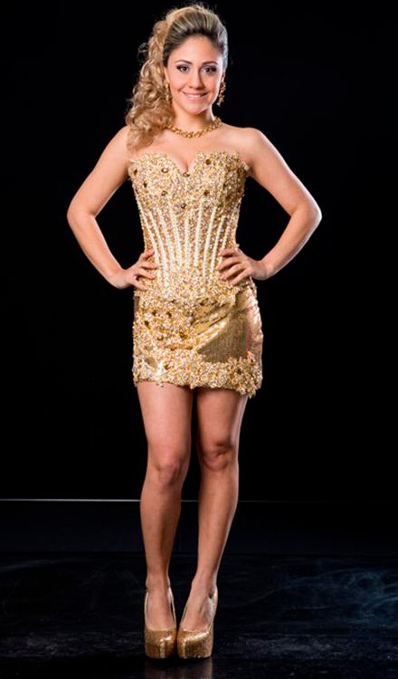 vestido de festa curto dourado tomara que caia