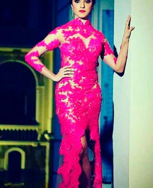 vestido de festa rosa pink longo com tule