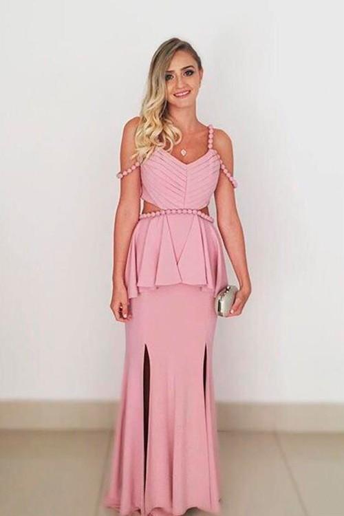 2fafb7baf247 Vestido de festa rosa bebe longo - Bella Angela