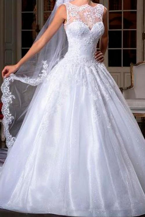 d3473d56ef Vestido de noiva frente única decote coração - Bella Angela