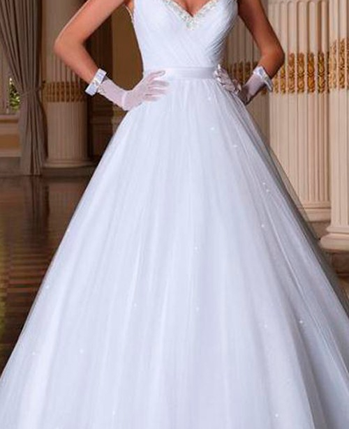 Vestido de noiva manga curta com renda decote aberto nas costas