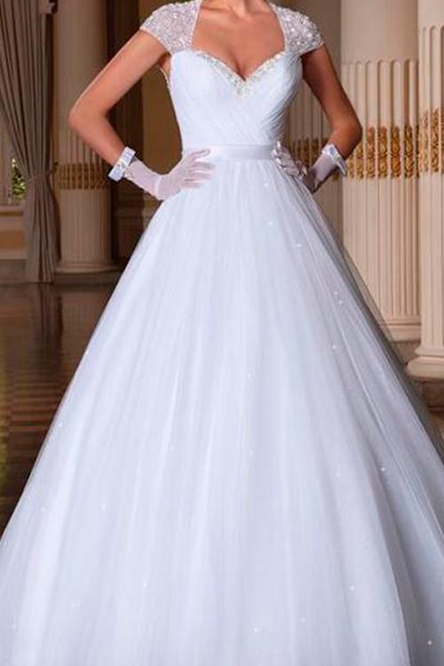 42b76d0db2 Vestido de noiva manga curta com renda decote aberto nas costas ...