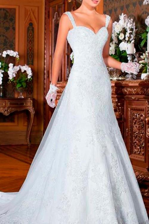 1d026112479f Vestido de noiva semi sereia com alça decote coração - Bella Angela