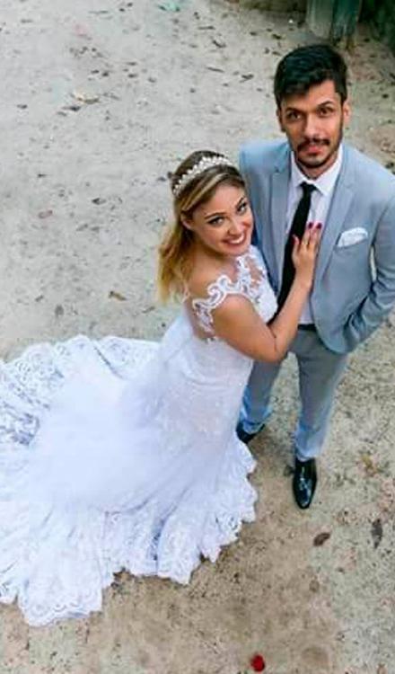 98eea14620ad Vestido de noiva sereia frente única com renda - Bella Angela