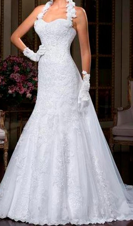 Vestido de noiva sereia tomara que caia redondo